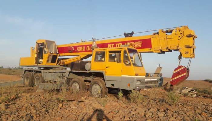 used T750 Price used p and h crane in nagpur maharashtra 50 mt tyre mounted crane, make p&h he 1965 1631788083.webp