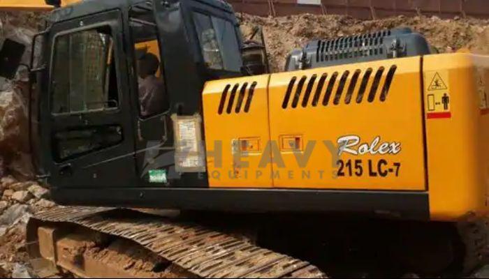 Hyundai Excavator With Rock Breaker On Rent