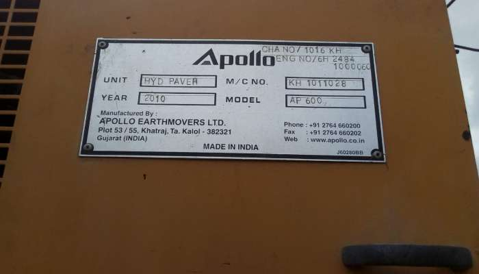 Apollo Paver AP600 For Sale