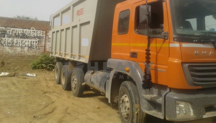 used bharatbenz trucks in kanpur uttar pradesh used bharatbnez 3123 tipper he 2017 760 heavyequipments_1530774319.png