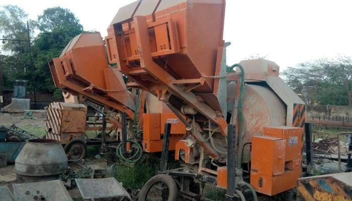 used concrete mixer machine