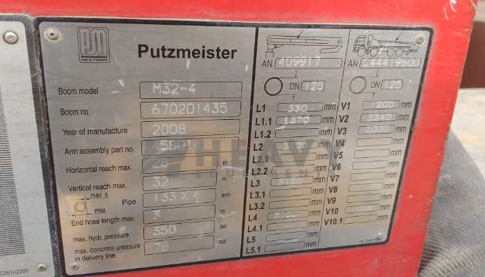Putzmeister Boom Placer For Sale