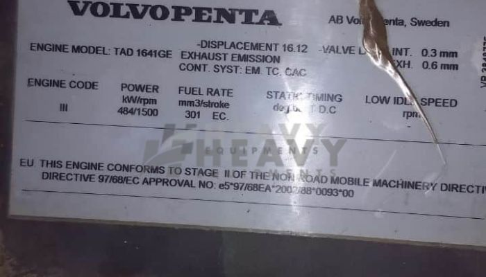 Used Volvo 500KVA Generator